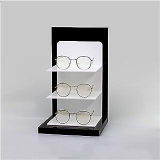 Holder Glasses 3-زوج أسود وأسود أكريليك نظارات شمسية عرض التجزئة، سطح الطاولة نظارات تخزين رف عرض موقف Sunglasses Display ...