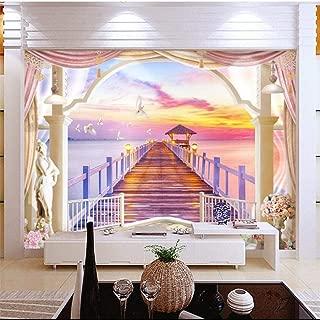 Fiartel Papel tapiz personalizado Cálido mar vista puesta de sol 3D TV papel tapiz de pared para paredes 3 d papel de parede para quarto-300X210CM