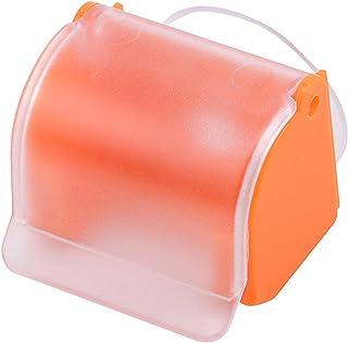 Largesoy 浴室用ラック カミソリホルダー シェーバーラック シェーバー棚 シェーバーホルダー 洗面所 お風呂 吸盤 オレンジ
