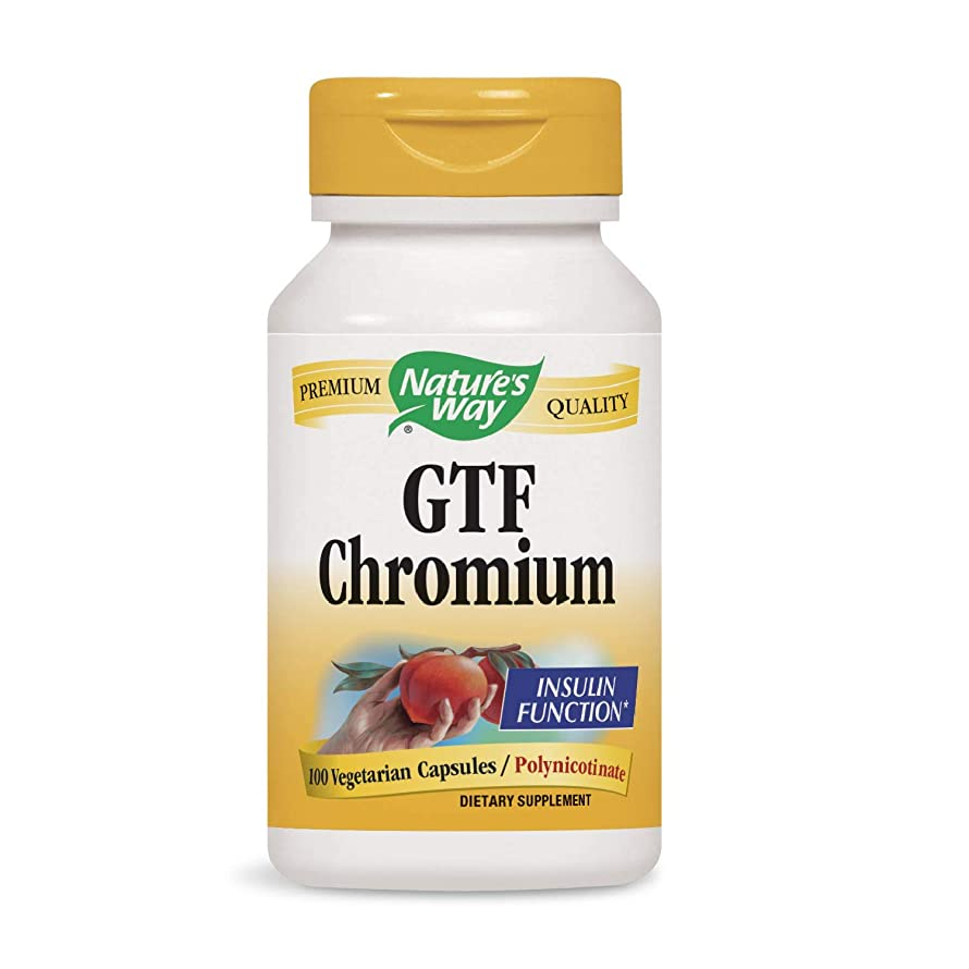冗長速い主人海外直送品 Nature's Way GTF Chromium, 100 Caps 200 mcg