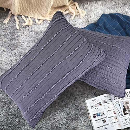 """BOSOWOS Pillowcase Standard Size 20"""" x 30"""" Set of 2, Ultra Soft 100% Microfiber Breathable Pillow Covers, Premium Quality, Hypoallergenic Pillowcases (Smoke Purple"""