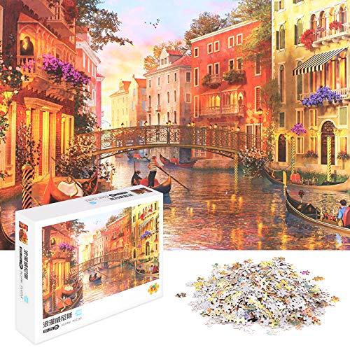 Jigsaw Puzzle 1000 pezzi per adulti adolescenti, 1000P Puzzle Classici (Venezia romantica)