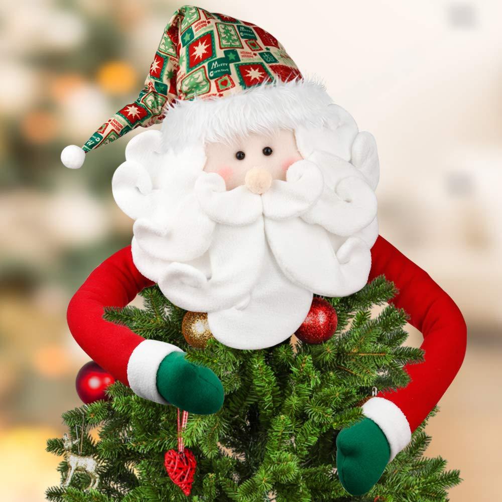 Image of Fun Colorful Santa Claus Tree Topper