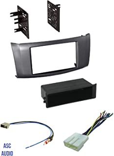 ASC Premium Car Stereo Charcoal Gray Install Dash Kit, Wire Harness, and Antenna Adapter for Installing an Aftermarket Radio for 2013 2014 2015 2016 Nissan Sentra,