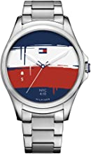 Tommy Hilfiger Smartwatch Quartz Watch with Stainless-Steel Strap, Silver, 11.5 (Model: 1791405)