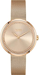 Hugo Boss Women's Carnation Gold Dial Ionic Plated Carnation Gold Steel Watch - 1502548