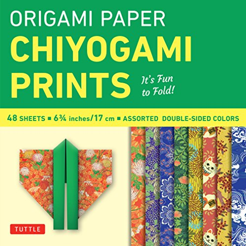 """Origami Paper - Chiyogami Prints - 6 3/4"""" - 48 Sheets: Tuttle Origami Paper: High-Quality Double-Sided Origami Sheets Printed with 8 Different Patterns (Instructions for 6 Projects Included)"""
