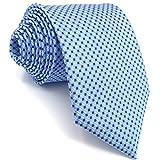 shlax&wing S&W Herren Krawatte Gemelos y Tie Einstecktücher Azul Puntos Classic 147cm