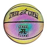 Tree Life Holographic Reflective Glowing Basketball- Cool Street Basketball Official Size,29.5 Inch Outdoor-Indoor Basketball Sporting Birthday Gifts for Boys,Girls(Reflective,NOT Glowing by Itself)