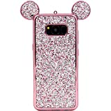 Galaxy S8 Case, MC Fashion Cute Sparkle Bling Glitter 3D Mickey Mouse Ears Soft and Protective TPU Rubber Case for Samsung Galaxy S8 (2017 Release) (Rose Gold)