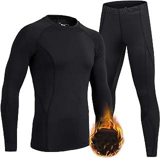 LNJLVI Boys Girls Thermal Underwear Set Long Sleeve Shirt Base Layer Tops and Pant 2 Pcs