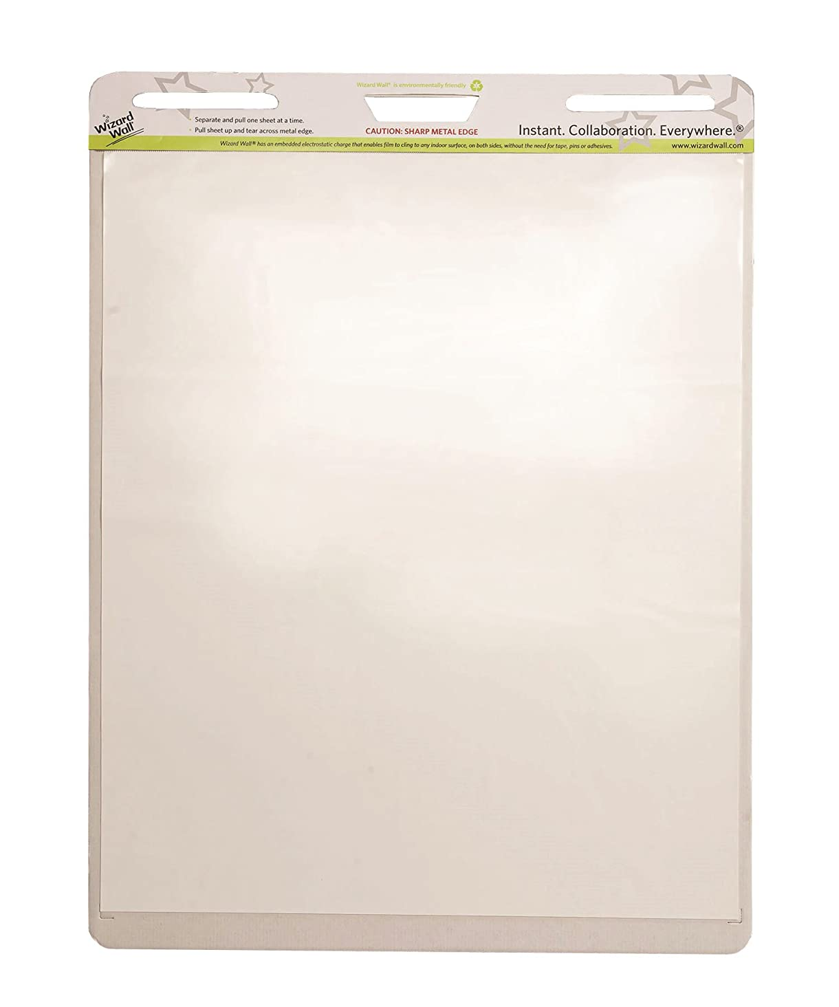 Wizard Wall Dry Erase Easel Pad, 15 Reusable and Self Tearing Easel Pads Sheets Pad, 24