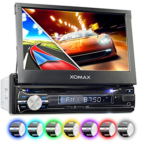 XOMAX XM-DTSBN933 Autoradio mit GPS Navigation I Bluetooth I 18 cm / 7