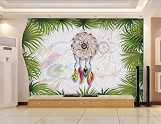 Wall Mural 3D Tropical Plant Dream Catcher Retro Custom Wallpaper 3D Effect Large Mural Wall Murals Home Decor,430cmx300cm