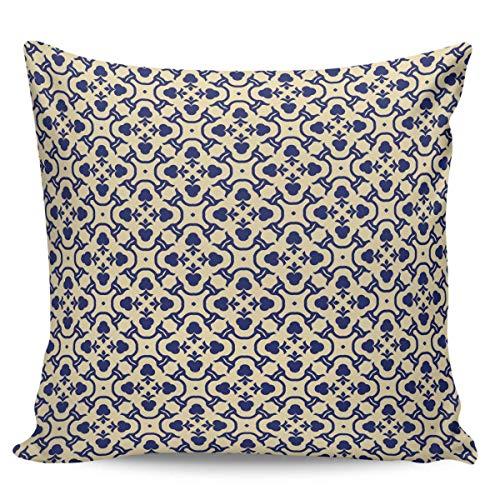 Federa decorativa per cuscini e federe per divano, stile etnico orientale, 45,7 x 45,7 cm, decorazione per la casa per divano letto, stile hippie vintage geometrico