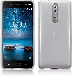 Nokia 8 TPU Case Cover - White Transparent