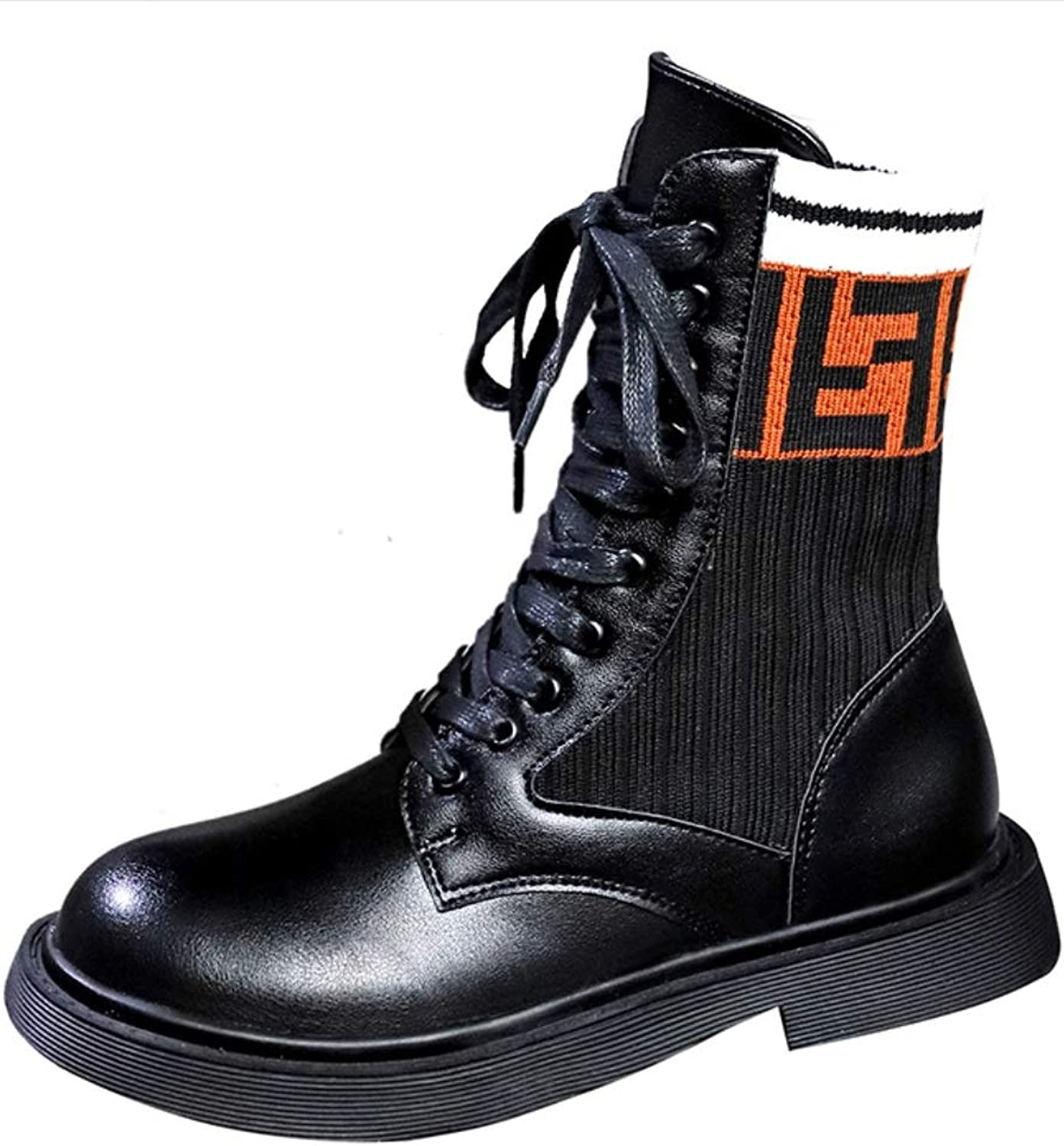 Women's Boots Ankle Boots Ladies Short Boots Fashion Leather Outdoor Tooling Boots Martin Boots Ladies Flat Casual Motorcycle Motorcycle Boots