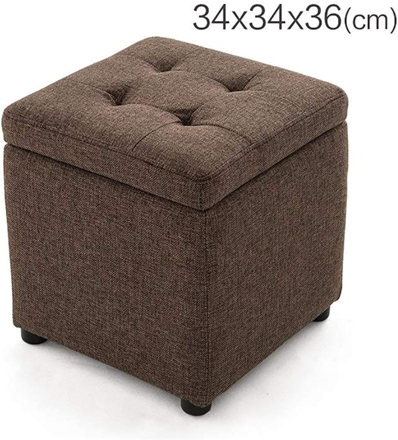 AJZGF Admission Stool Bench Stool Dianzi Sofa Stool Storage Stool Stool Footstool - Small Stool (color   B, Size   34  34  36cm)