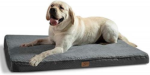 Bedsure Cama Perro Extra Grande Ortopédica - Colchón Perro Lavable Verano XL, Desenfundable con Espuma De Caja De Hue...