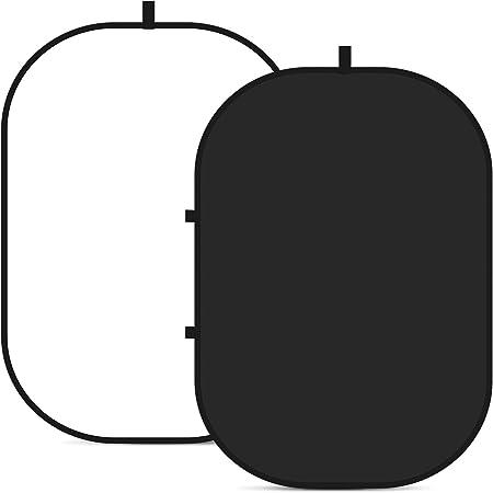 Walimex Pro 2in1 Falthintergrund Schwarz Weiß Kamera