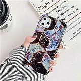 XMCJ. Placcatura Soft Marble Silicone Casse del Telefono for Un iPhone 11 PRO Max XR X XS Max 7 8 Plus 6 Caso 8plus 6S Copertura Posteriore Shell (Color : F, Material : for iPhone 6(6S) Plus)