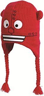 Boys Acrylic Knit Fleece Lined Robot Ear Warmer Hat