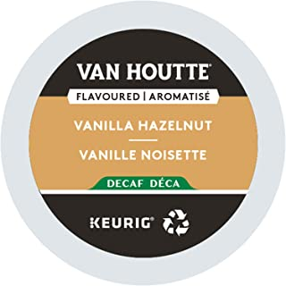 Van Houtte, Vanilla Hazelnut Decaf, Single-Serve Keurig K-Cup Pods, Light Roast Coffee, 96 Count (4 Boxes of 24 Pods)