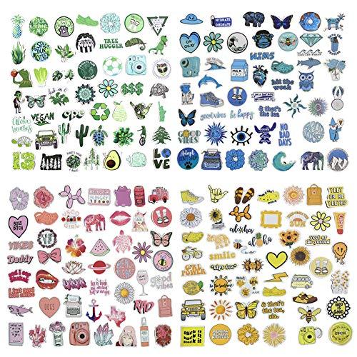 PietyPet Niedliche Vsco ästhetische Aufkleber 400 Stück, Wasserdicht Vinyl Stickers Graffiti Style Decals für Wasserflasche und Auto Motorräder Fahrrad Skateboard Snowboard Gepäck Laptop