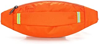 Men's and Women's Sports Leisure Waist Pack, Multifunction Large Capacity Waterproof Waist Bag for Cycling Sport Travel, Mountain Climbing Place Various Documents (Color : Orange)