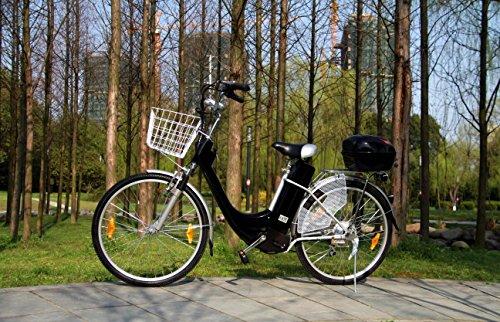 "Viron Elektrofahrrad 250W / 36V E-Bike 26"" Zoll Pedelec Fahrrad mit Motor Citybike (schwarz)"