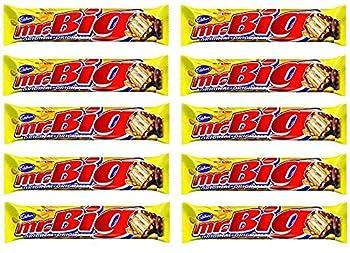 10 Pack of Mr Big Chocolate Bars 600g/60g Each BAR The Great Taste of Canada Chocolate bar