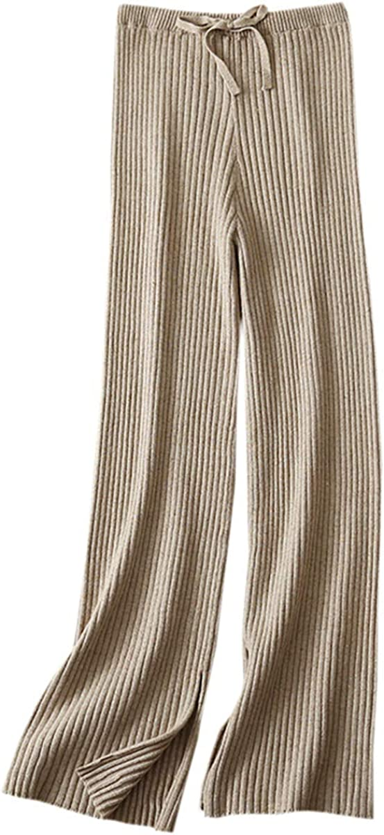 SANGTREE Women's Cashmere Wide Leg Pants