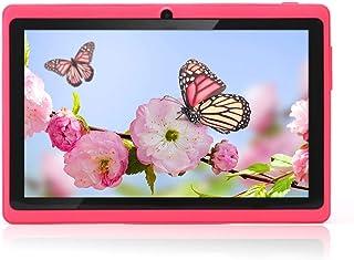 Haehne 7 Pollici Tablet PC, Google Android 4.4 Quad Core, 512 MB RAM 8GB ROM, Doppia Fotocamera, WiFi, Bluetooth, per Bamb...