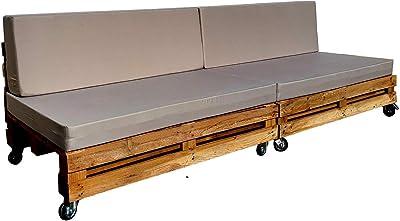 Sofa Palet Reciclado Doble 240CM (Incluye Ruedas y Colchonetas): Amazon.es: Hogar