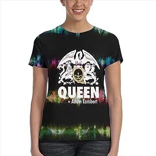 Queen Women'Shirt, Freddie Mercury 3D Print T Shirt for Women