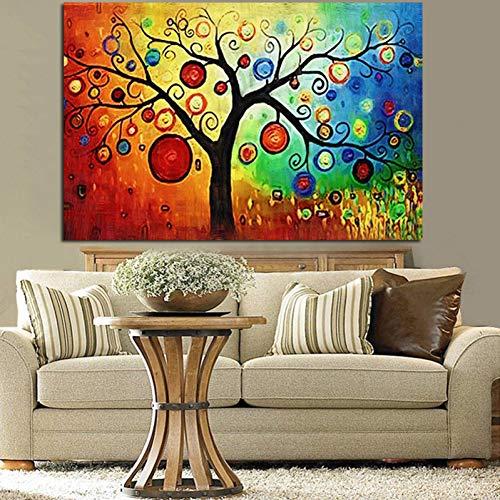 Preisvergleich Produktbild YCOLLC Wanddekoration Malerei Mehrere Aquarell Apfelbaum abstrakte Malerei HD Print auf Leinwand Wandbild für Livingom Sofa Cuadros Dekoration