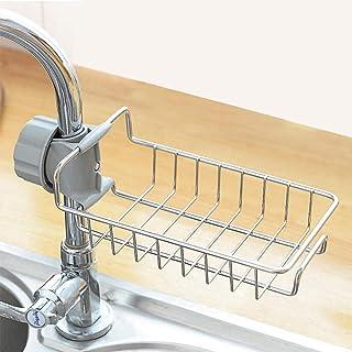 Acier inoxydable robinet de cuisine étagère de rangement panier de vidange support de tige de douche organisateur de bain ...