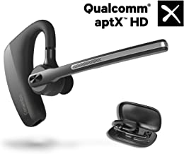 Bluetooth Headset 5.0, aptX HD 16 Hrs Talktime Bluetooth Earpiece, Noise Cancelling Mute Key Wireless Earphones for Cell Phones Business Trucker Office