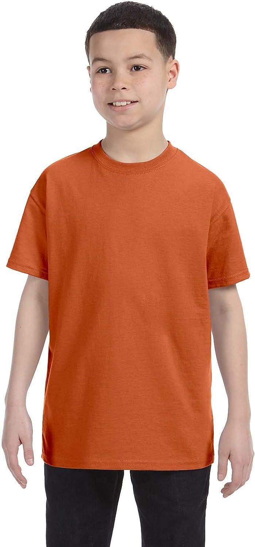 Gildan boys Heavy Cotton T-Shirt(G500B)-TEXAS ORANGE-XL