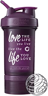 Love Life Blender Bottle ProStak、22oz Protein Shaker Cup with Twist n 'ロックストレージ