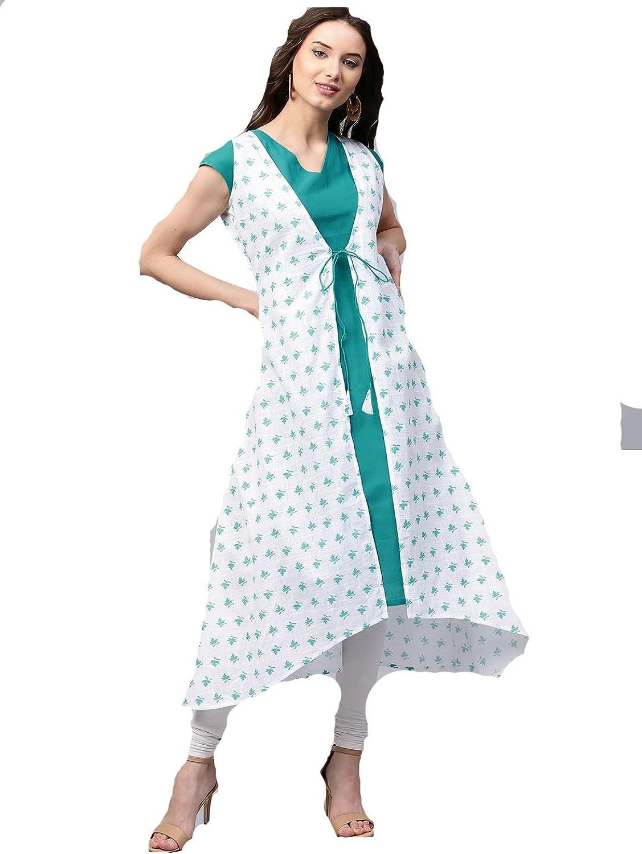 Designer Kurta Kurti Indian Women Bollywood Ethnic Pakistani Crepe Kurtis Dress Tunics Cotton Tops Blouse Style Long Silk