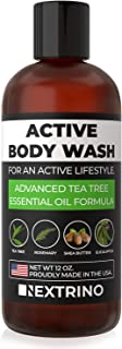 Tea Tree Oil Body Wash - USA Made Liquid Shower Gel Soap for Body, Face, Nails, Feet and Sensitive Skin - Cleanse with Natural Essential Oils (12oz Bottle)