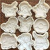 ZCZC Set di formine per biscotti Pikachu per tema Pokemon - Formine a forma di animale per la festa di compleanno