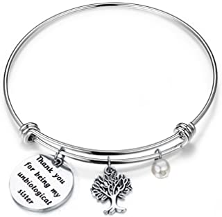 FEELMEM Best Friend Bracelet Unbiological Sister Charm Bracelet Adjustable Bangle Gifts for Sister, Best Friends