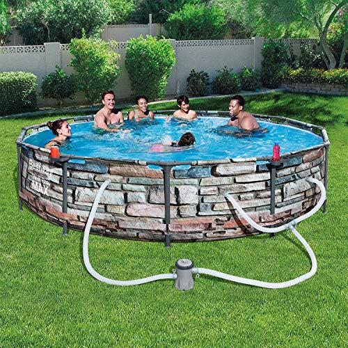 """Bestway Pool Reviews - Bestway 56817E 12'X30"""" Steel Pro Max Round Above Ground Pool"""