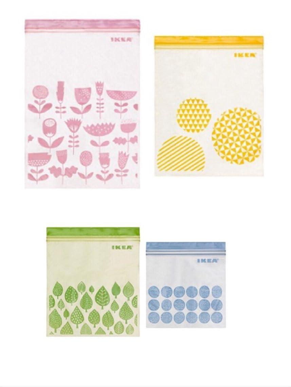 リーク仕事ギャザー☆2016NEW☆ IKEA ISTAD プラスチック袋 アソート 合計80ピース (ピンク&イエロー)30ピース (グリーン&ブルー) 50ピース