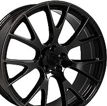 OE Wheels 22 Inch Fits Dodge Challenger Charger SRT8 Magnum Chrysler 300 SRT8 Hellcat Style DG15 22x9 Rims Black Chrome SET