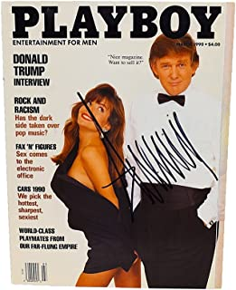 AUTOGRAPHED Donald Trump ORIGINAL PLAYBOY MAGAZINE (March, 1990) 45TH PRESIDENT OF THE UNITED STATES Extremely Rare Signed 9X11 Inch Full Great Condition Magazine with COA