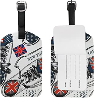 Sports Boots Decorated By British Pattern Luggage Tags Travel ID Bag Tag for Suitcase 1 Piece
