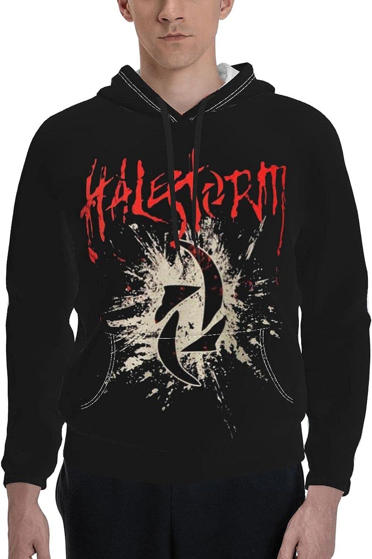 Halestorm Logo Pullover Men's Casual Hoodies Sleeve Long Sl Dallas Mall Popular overseas